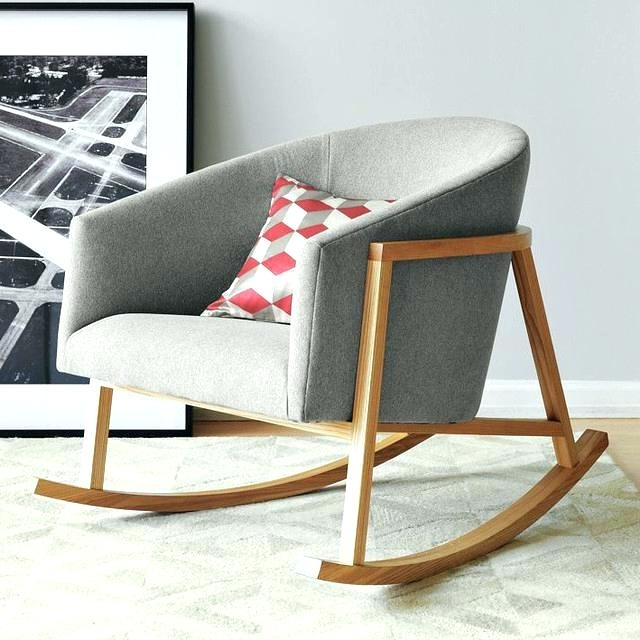 Cool Upholstered Rocking Chairs For Adults F92x In Most Creative In Popular Upholstered Rocking Chairs (View 15 of 20)