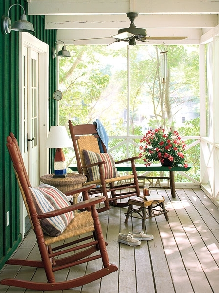 Creative Of Deck Rocking Chairs With Rocking Chair Porch Myhomeideas For Favorite Rocking Chairs For Porch (View 9 of 20)