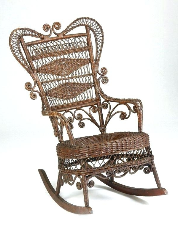 Current Antique Wicker Rocking Chairs With Springs Pertaining To Vintage Wicker Rocking Chair Vintage Wicker Chair Wicker Rocking (View 10 of 20)