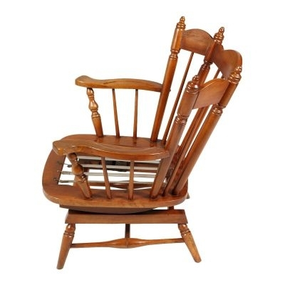 Current Chiavari Chestnut Rocking Chairs With Springs, 1930S, Set Of 2 For Regarding Rocking Chairs With Springs (View 10 of 20)