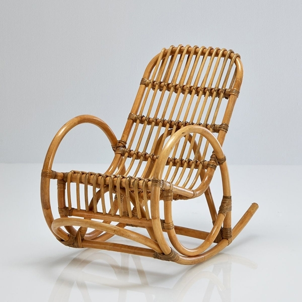 Current Child Chair Rocking Chair Rattan Malu – Indigo Rattan Furniture Pertaining To Wicker Rocking Chair With Magazine Holder (View 6 of 20)