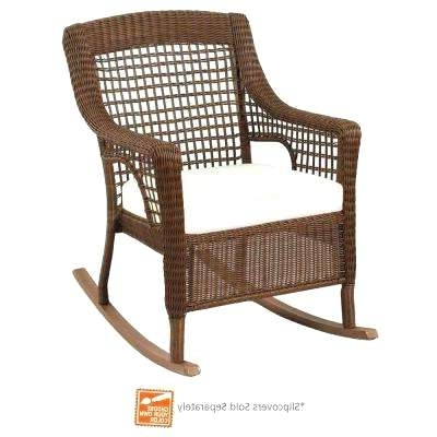 Current Patio Rocking Chairs Regarding Patio Furniture Rocking Chair Cushions (View 3 of 20)