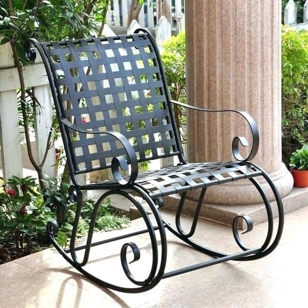 Current Retro Outdoor Rocking Chairs In Retro Outdoor Metal Rocking Chairs – Lindsayisvegan (View 4 of 20)