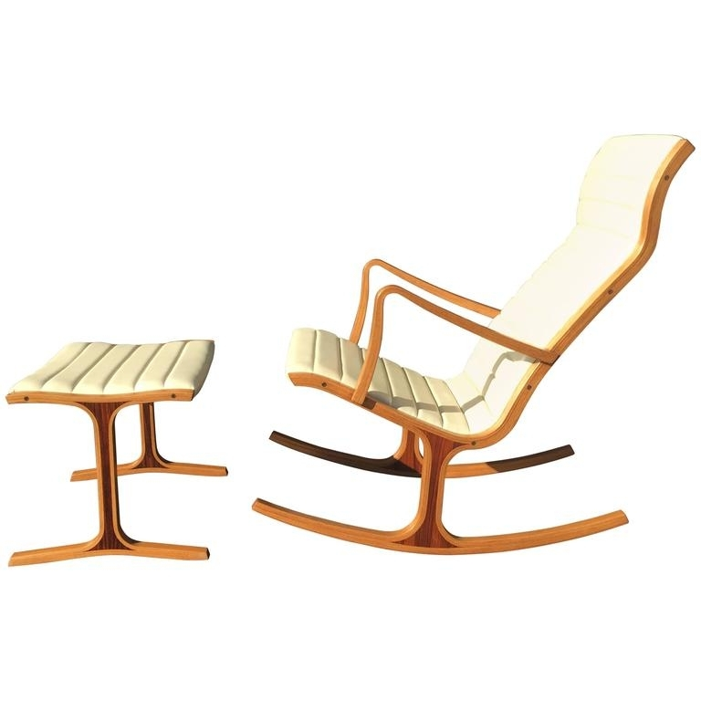 Current Tendo Mokko Heron Rocking Chair And Footrest For Kosuga Japan At 1Stdibs Within Rocking Chairs With Footrest (View 5 of 20)