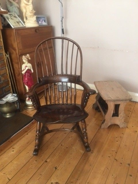 Ercol Style Windsor Broad Arm Rocking Chair (View 3 of 20)
