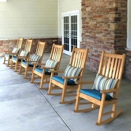Exterior Rocking Chairs Outdoor Rocking Chair Lowes Outdoor Wood With Regard To Best And Newest Outdoor Rocking Chairs With Cushions (View 3 of 20)