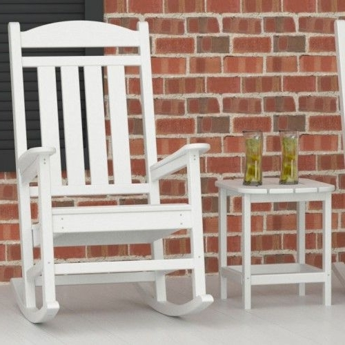 Famous Excellent Stylish White Outdoor Rocking Chair Captivating Patio In White Patio Rocking Chairs (View 5 of 20)