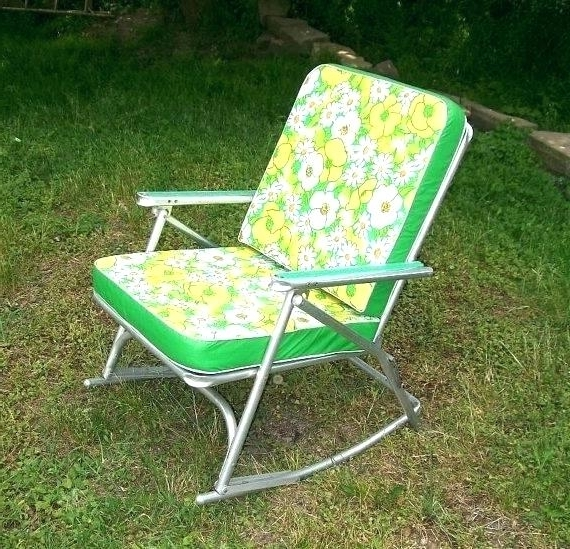 Famous Lawn Chair Rocker Aluminum Folding Rocking Lawn Chairs See The Intended For Aluminum Patio Rocking Chairs (View 10 of 20)