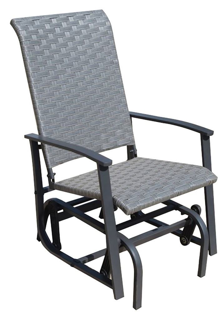 Famous Manhattan Patio Grey Rocking Chairs In One Seater Sling Glider (View 3 of 20)