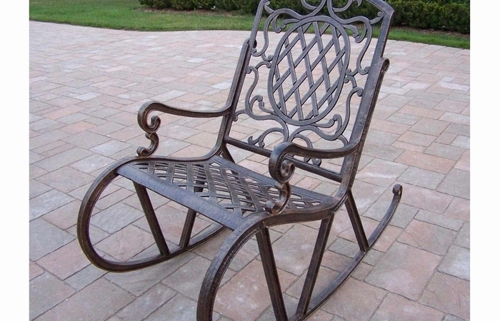 Famous Outsunny Garden Gliding Chair Porch Furniture Rocking Chairaosomca In Retro Outdoor Rocking Chairs (View 6 of 20)