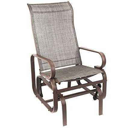 Famous Patio Rocking Chairs And Gliders With Regard To Amazon : Naturefun Outdoor Patio Rocker Chair, Balcony Glider (View 4 of 20)