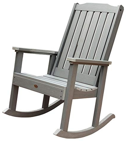 Famous Teak Patio Rocking Chairs For Amazon : Highwood Lehigh Rocking Chair, Coastal Teak : Patio (View 6 of 20)