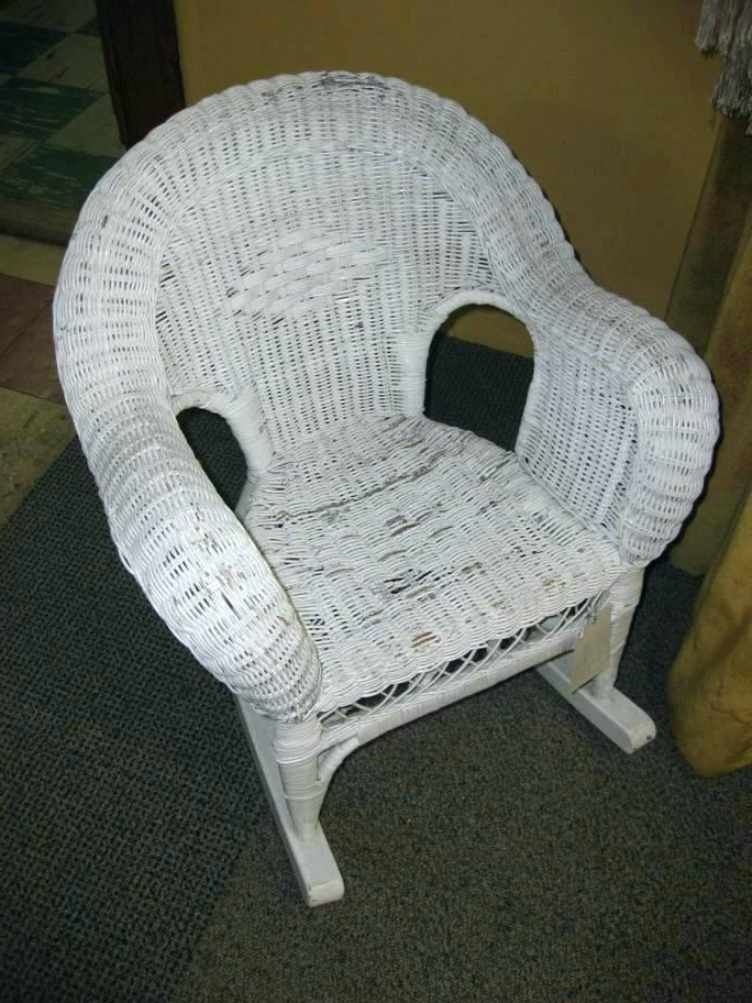 Famous White Wicker Rocking Chairs Regarding White Wicker Rocking Chair Link White Wicker Rocking Chair Cheap (View 15 of 20)