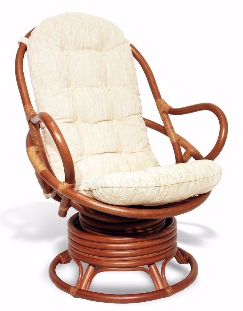 Famous Wicker Rocking Chairs And Ottoman For Vintage Bamboo Swivel Rocking Chair And Ottoman Rattan Reading With (View 1 of 20)