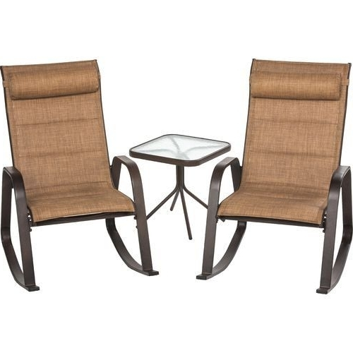 Fashionable 3 Piece Rocker And Table Patio Set (View 18 of 20)