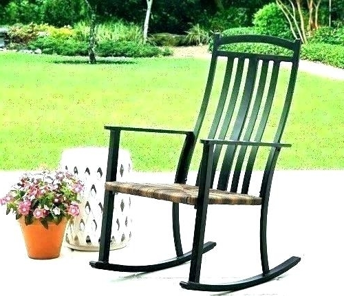 Fashionable Outdoor Patio Metal Rocking Chairs Within Decoration: Metal Rocking Chair (View 18 of 20)