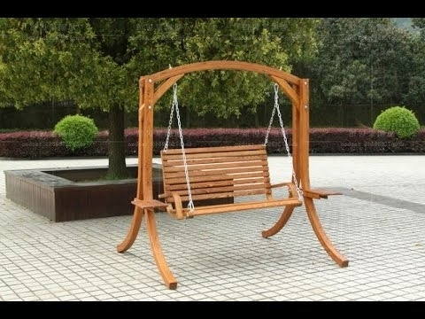 Fashionable Rocking Chair Outdoor Wooden With Outdoor Wooden Rocking Chairs – Youtube (View 3 of 20)