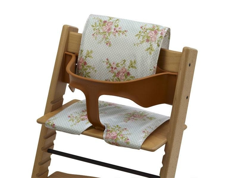 Fashionable Rocking Chairs At Roses Pertaining To Cushions For Wooden High Chairs – Pastel Roses – (View 3 of 20)