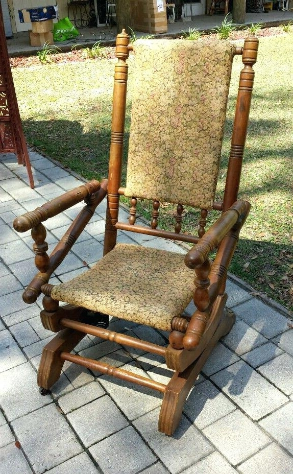 Fashionable Rocking Chairs With Springs With Antique Platform Rocking Chair With Springs Back To Antique Rocking (View 11 of 20)