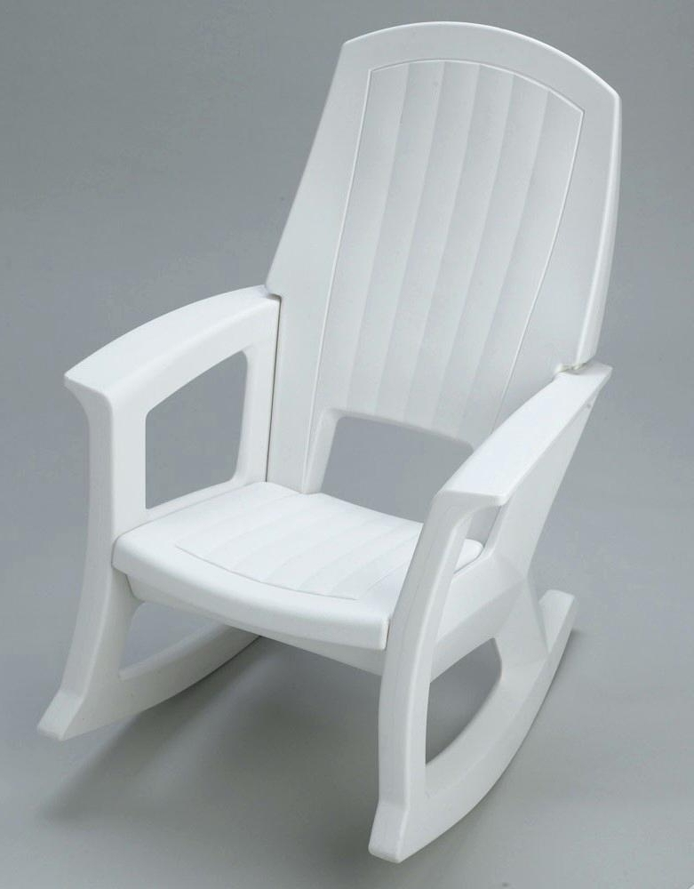 Fashionable Semco Patio Rocking Chair – Sohum Throughout White Resin Patio Rocking Chairs (View 3 of 20)