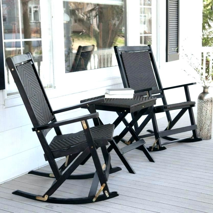 Fashionable White Outdoor Rocking Chair Sale Pads With Ties In Chairs For With Regard To Outdoor Rocking Chairs With Table (View 6 of 20)
