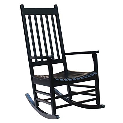 Favorite Amazon : International Concepts R 51866 Porch Rocker, Black Inside Black Patio Rocking Chairs (View 10 of 20)