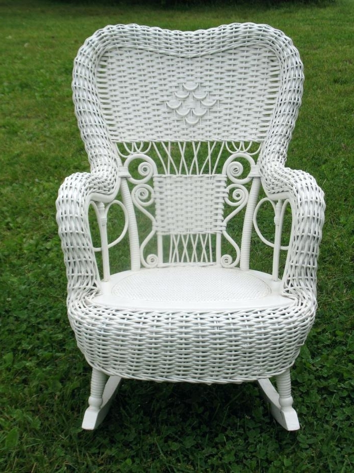 Favorite Antique Wicker Rocking Chairs With Springs Regarding Antique Wicker Rocking Chair Fancy Antique Wicker Rocker Brothers (View 12 of 20)