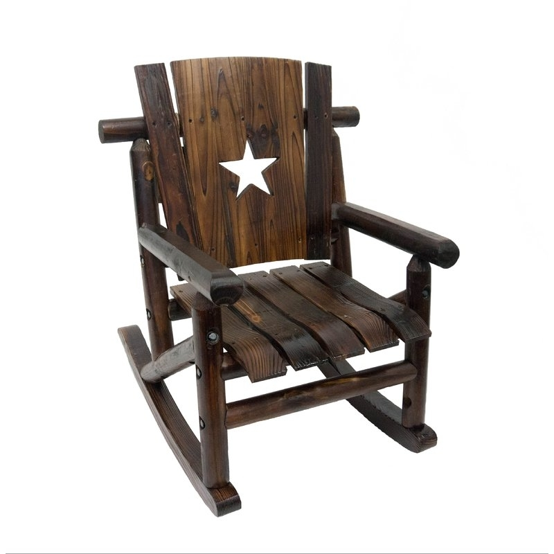 Favorite Leighcountry Char Log Junior Lil' Cut Out Star Single Rocking Chair For Char Log Patio Rocking Chairs With Star (View 8 of 20)