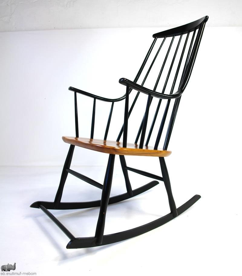 "Favorite Modernhaus: Ilmari Tapiovaara ""mademoiselle"" High Back Rocking Chair For High Back Rocking Chairs (View 9 of 20)"