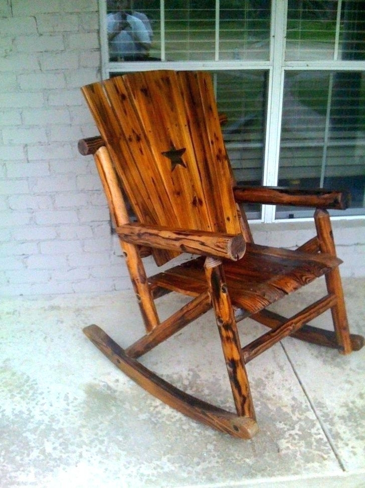 Favorite Rocking Chair Outdoor Wooden Within Outdoor Wooden Rocking Chairs For Garden Adults – Forestwood (View 4 of 20)