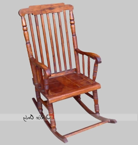 Favorite Rocking Chair With Long Backrest, Designer Vintage Style Rocking Regarding Rocking Chairs With Footrest (View 7 of 20)