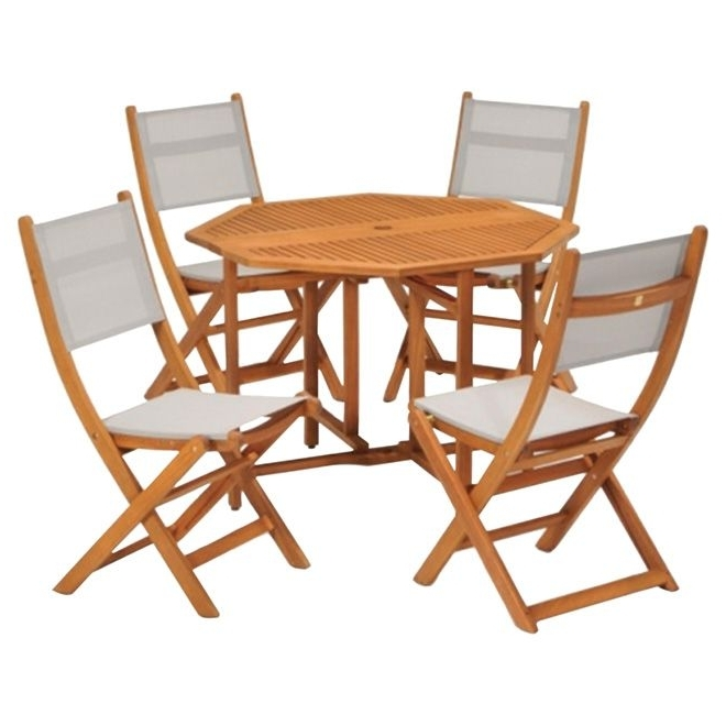 "Favorite Rona Patio Rocking Chairs With Regard To Kingsbury"" Patio Dining Set – Wood/grey – 5 Pieces (View 6 of 20)"