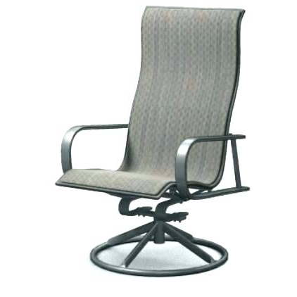 Favorite Swivel Lawn Chairs Swivel Rocking Metal Outdoor Dining Chair With With Patio Rocking Swivel Chairs (View 7 of 20)