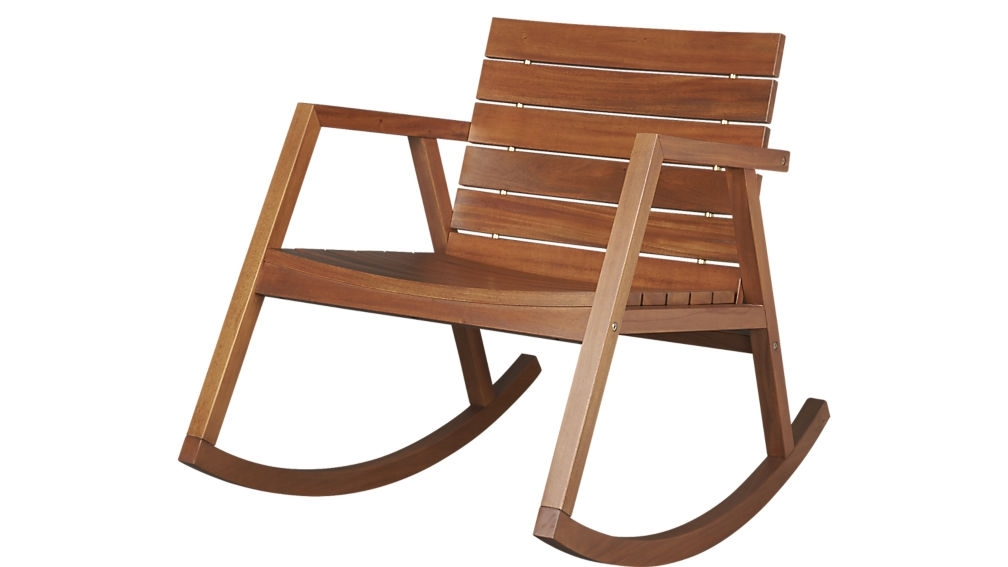 Favorite Valalta Outdoor Wooden Rocking Chair Reviews Cb2 Ethan Allen Rocking Inside Rocking Chair Outdoor Wooden (View 5 of 20)