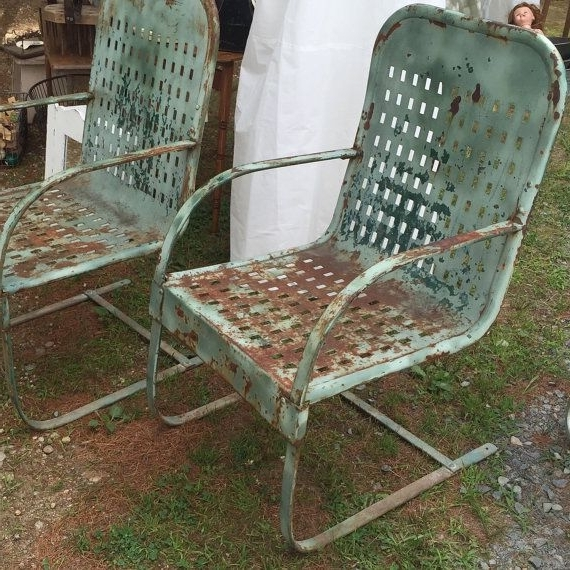 Favorite Vintage Metal Outdoor Rocking Chairs – Fripons Designs Throughout Vintage Metal Rocking Patio Chairs (View 4 of 20)