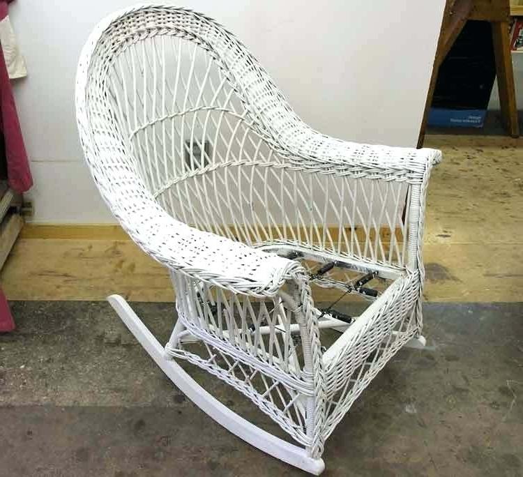Favorite White Rocker Chair – Terva (View 7 of 20)