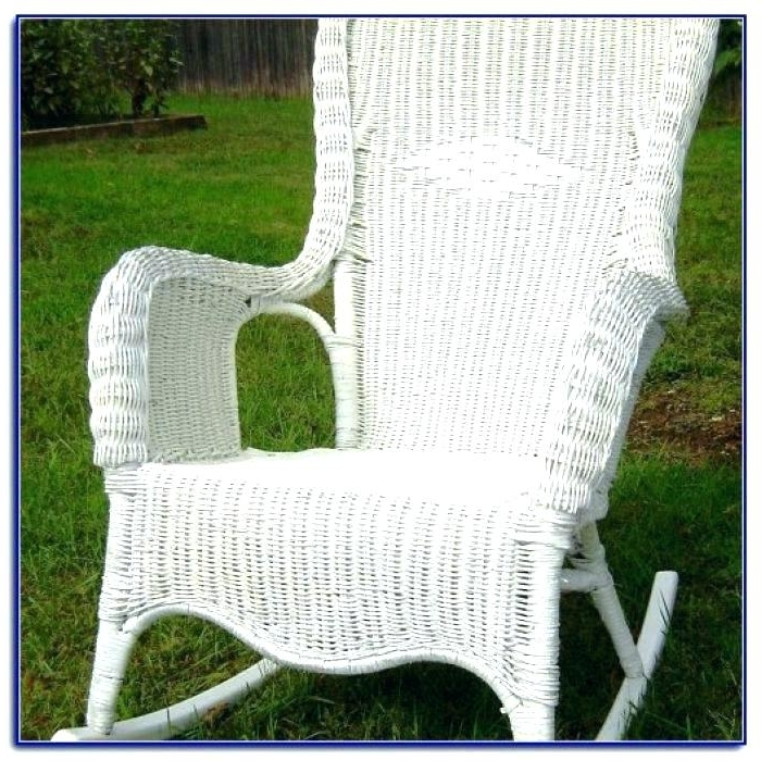 Favorite White Wicker Rocking Chairs Inside White Wicker Rocking Chair – Blakeappleby (View 8 of 20)