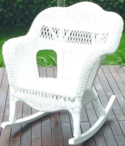 Favorite White Wicker Rocking Chairs Pertaining To Wicker Rocking Chair Nursery High End Rocking Chairs High End (View 9 of 20)