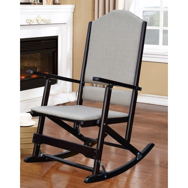 Folding Rocking Chairs With Regard To Best And Newest Red Barrel Studio Cinthia Solid Wood Folding Rocking Chair & Reviews (View 13 of 20)