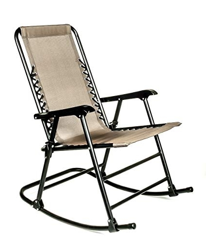 Folding Rocking Chairs Within Trendy Amazon: Camco 51851 Tan Folding Rocking Chair: Automotive (View 14 of 20)
