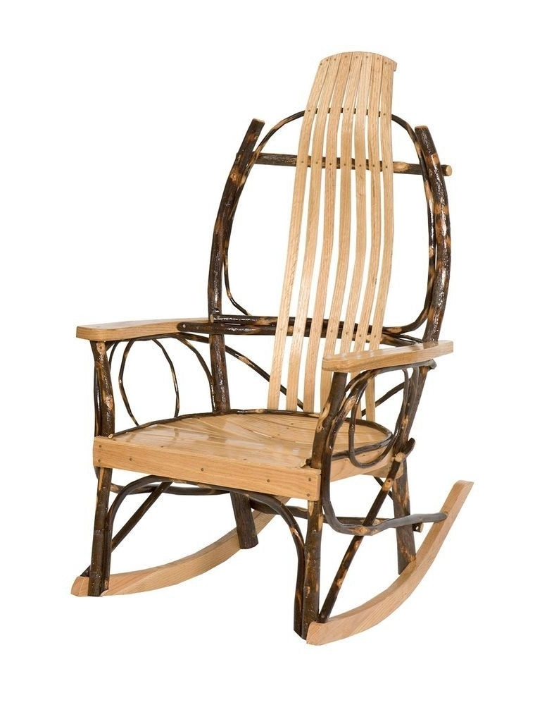 Hickory Rocker With Oak Arms – Peaceful Valley Amish Furniture For Most Up To Date Unique Outdoor Rocking Chairs (View 6 of 20)