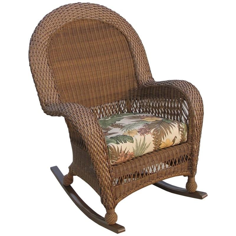 High Back Rocking Chairs With Regard To Trendy Longboat Key Casa Del Mar Wicker High Back Rocker – Wicker (View 19 of 20)