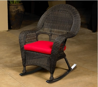 High Back Wicker Rocking Chair (Gallery 4 of 20)