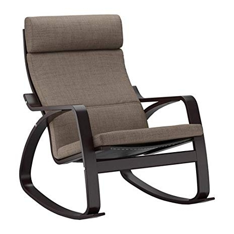 Ikea Rocking Chairs Pertaining To Most Recently Released Amazon: Ikea Rocking Chair, Black Brown, Isunda Brown  (View 9 of 20)
