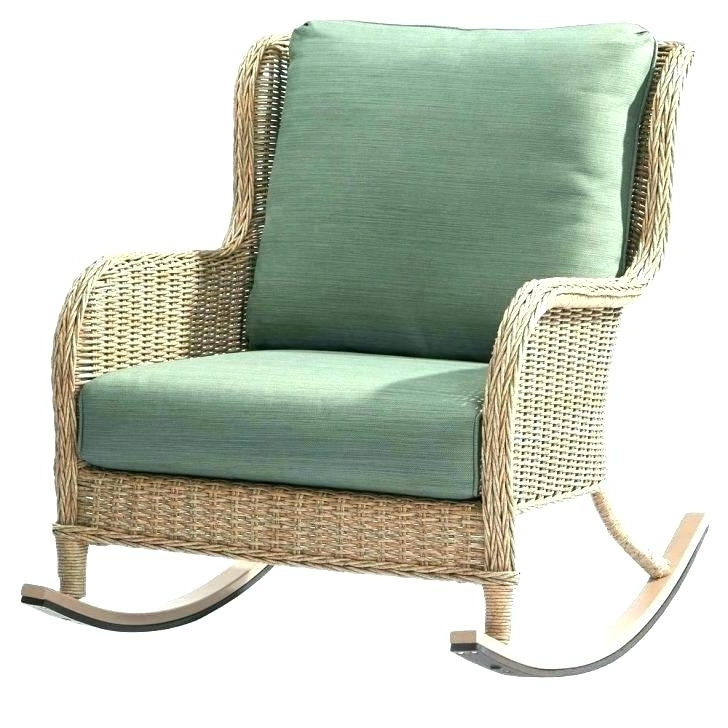 Indoor Wicker Chair White Wicker Furniture Indoor Indoor Wicker Intended For Most Recently Released Wicker Rocking Chairs With Cushions (Gallery 15 of 20)