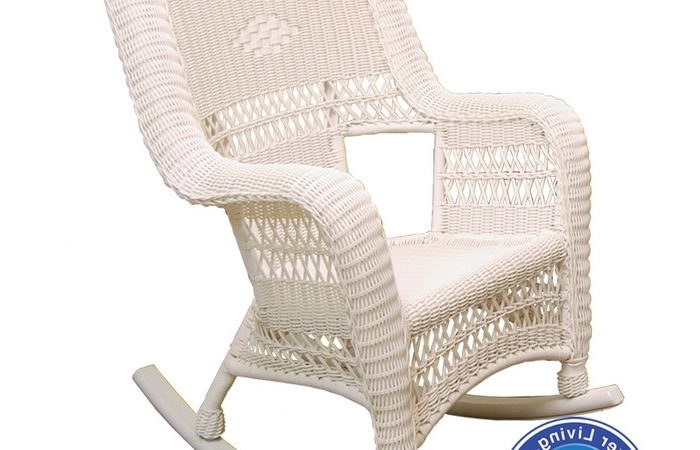 Inexpensive Patio Rocking Chairs Intended For Most Up To Date White Resin Wicker Chairs Rocking Chair Outdoor Patio Furniture (Gallery 16 of 20)