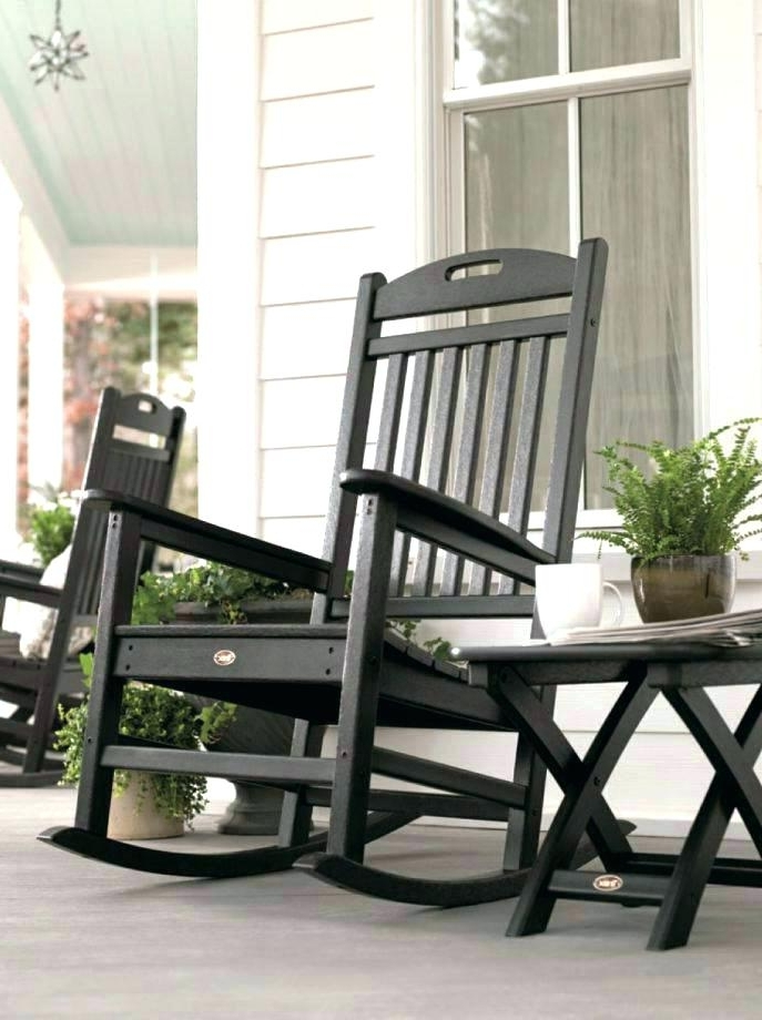 Inexpensive Patio Rocking Chairs Intended For Preferred White Outdoor Rocking Chair Canada Handcrafted Wooden Porch Rocker (View 11 of 20)