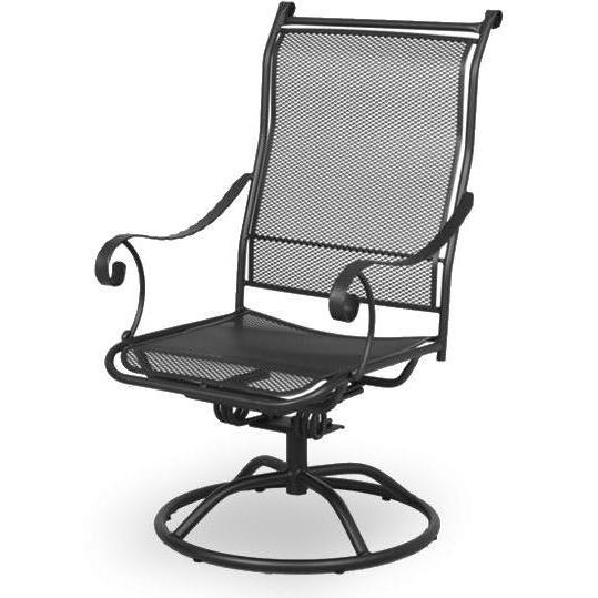 Iron Rocking Patio Chairs For Recent Meadowcraft Alexandria Wrought Iron Swivel Rocker Patio Dining Chair (View 3 of 20)