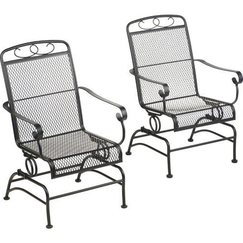 Iron Rocking Patio Chairs Within Fashionable Chair (View 7 of 20)