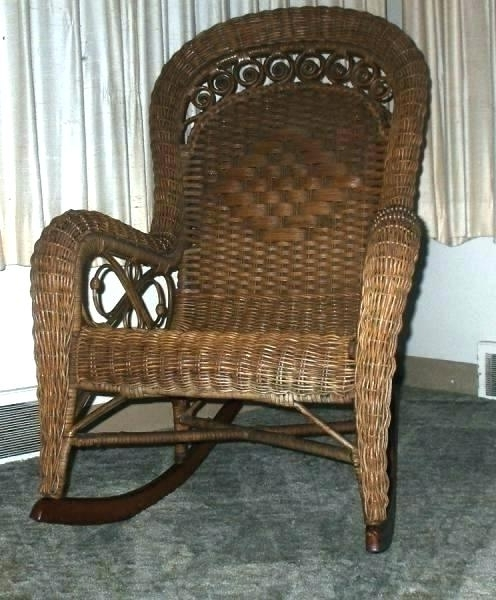 Latest Antique Wicker Rocking Chairs Pertaining To Vintage Wicker Rocker F5296 Vintage Wicker Rocker Vintage Wicker (View 10 of 20)